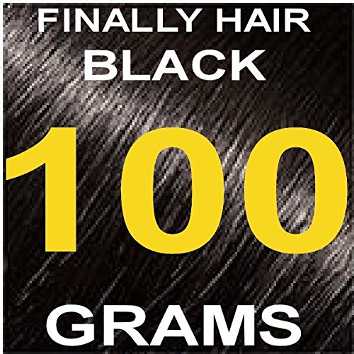 Finally Hair Hair Fiber Refill 100 Grams For Hair Loss Concealing by Finally Hair (Black) (Best Hair Loss Fibers)