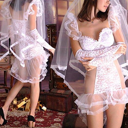 Novias Vestido Nupcial Largos Boda para Velo de Damas Guantes Ropa Suave Elástica Traje Baoblaze 107qFF