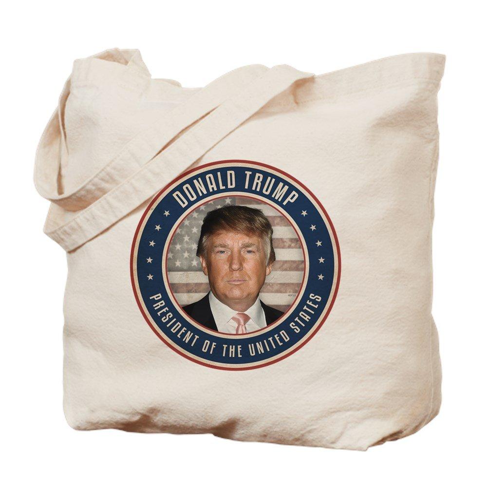 CafePress – 大統領投票ドナルドトランプ – ナチュラルキャンバストートバッグ、布ショッピングバッグ B01HXCW8UC