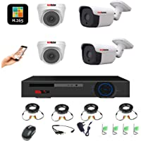 Kendom 4CH FULL HD 1080P Video Security DVR 4X 1080P HD Indoor and Outdoor Surveillance Camera System night vision, Motion Alert, Smartphone& PC Easy Remote Access(No HDD)