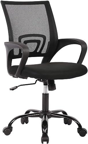 Ergonomic Office Chair Computer Desk Chair Mesh Computer Chair Breathable Lumbar Support Armrest Black Executive Chair 360-Degree Swivel Chair Mesh Task Chair Adjustable Chair