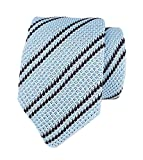 Mens Mint Blue Black Knit Ties Vintage Woven Casual 2'' Handmade Necktie for Gift