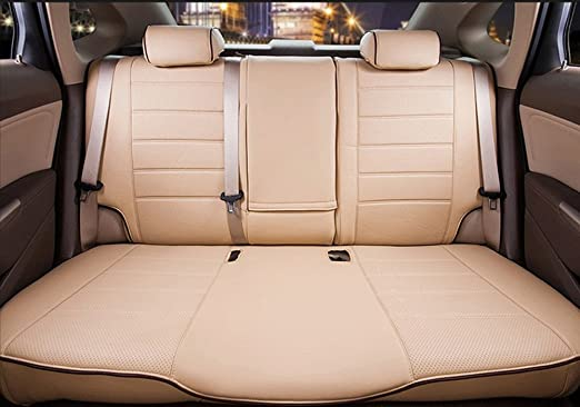 Titan Waterproof Car Front Seat Covers Sand to fit Land Rover Discovery 5 2017 Onwards