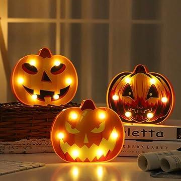 Cidere Halloween Bat Spider Skull Pumpkin Shape LED Decorative Night Light Night Lights