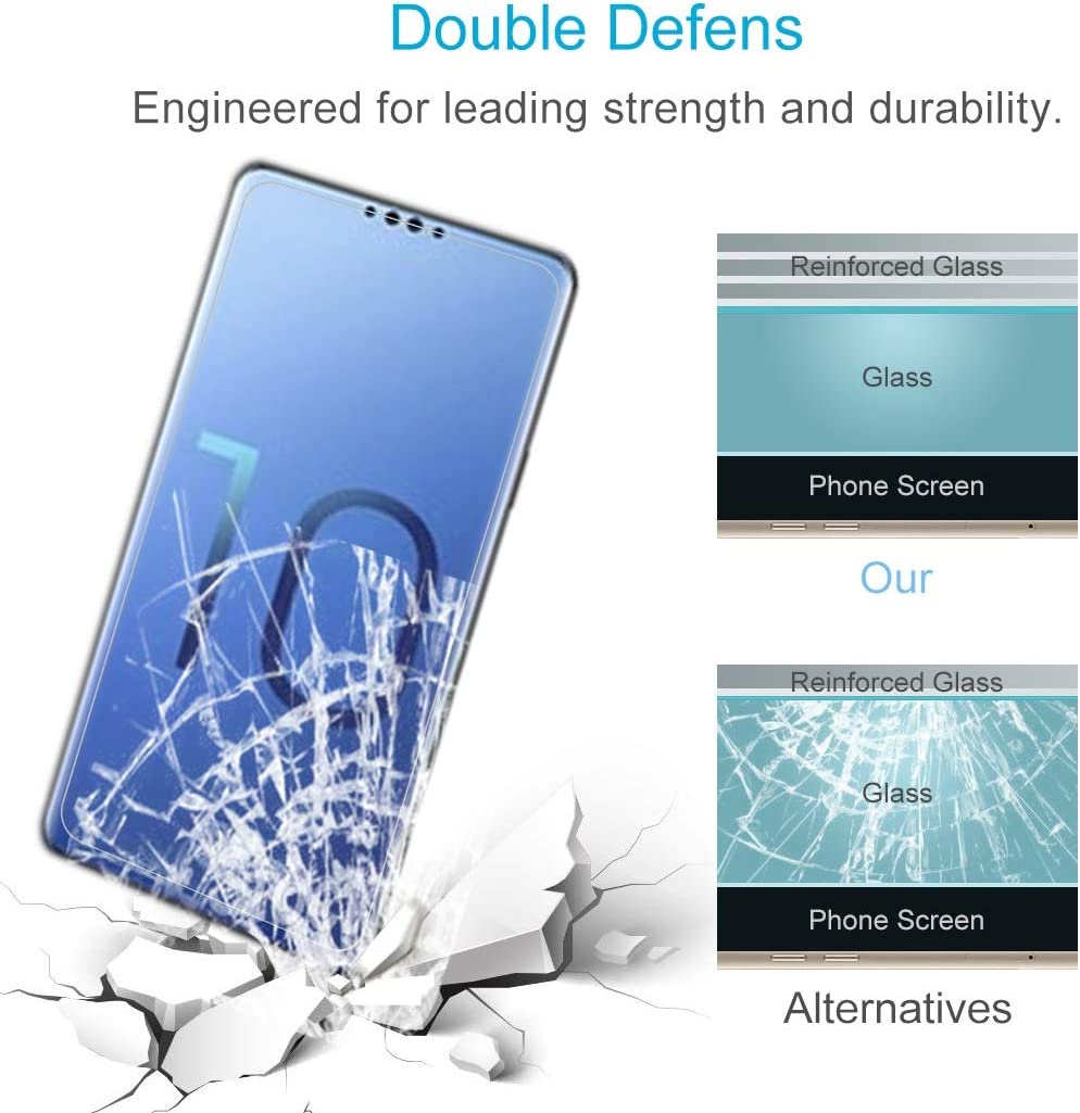GzPuluz Glass Protector Film 100 PCS 0.26mm 9H 2.5D Explosion-Proof Tempered Glass Film for Galaxy S10e