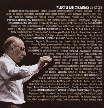 igor stravinsky works of igor stravinsky amazoncom music