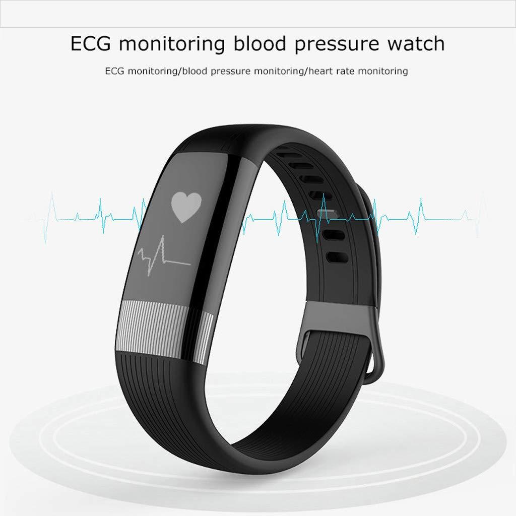 Aktivitetsspårare vattentät smart klocka multifunktion sport smartklocka med blodtryck pulsövervakning BLÅ