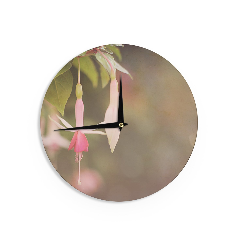 Kess InHouse Angie Turner Fuchsia Pink Flower Wall Clock 12 Diameter