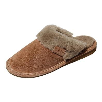 Hollert Leather Lammfell Hausschuhe - Malibu Damen Pantoffeln Fell Schuhe Größe EUR 40, Farbe Beige