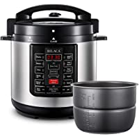 BILACA Pressure Cooker 6 Quart 9-in-1 Multi-Use Programmable Electric Pressure Cooker, Slow Cooker, Rice Cooker, Steamer, Yogurt Maker, Saute and Warmer Includes Healthy Recipe Cookbook and Steam Rack