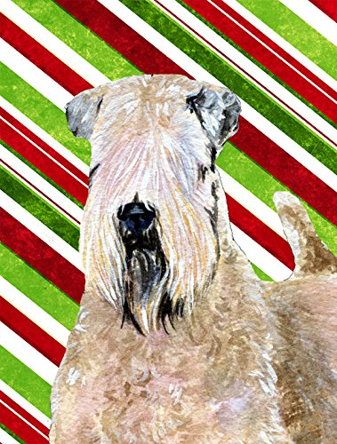 UPC 705332098687, Caroline's Treasures SS4562CHF Wheaten Terrier Soft Coated Candy Cane Holiday Christmas Canvas House Flag