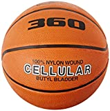 360 Athletics Cellular Composite Basketball, Two Tone Orange, Size 7