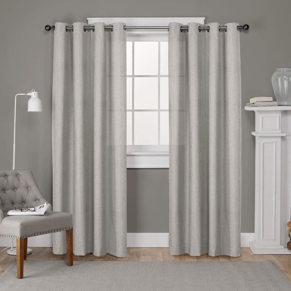 Exclusive Home Curtains Loha Linen Window Panel Pair with Grommet Top, 52x108, Beige, 2 Piece