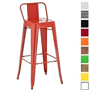 Repose Cuisine Chaise Et Bar Clp Ou En Mason Dossier Industriel Pied Design Confortable De Métal Tabouret CouleurRouge oeWxBrdCEQ
