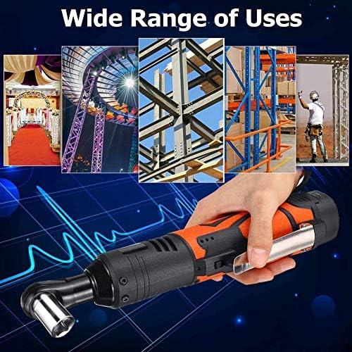 Achetez Le Meilleur MxZas Elektrischer Ratschenschluuml; ssel Akku, 18V 3/8 '' 60Nm Wiederaufladbarer 90 degrés;rechtwinkliger + Elektrowerkzeugsatz Jzx-n  bNNv7