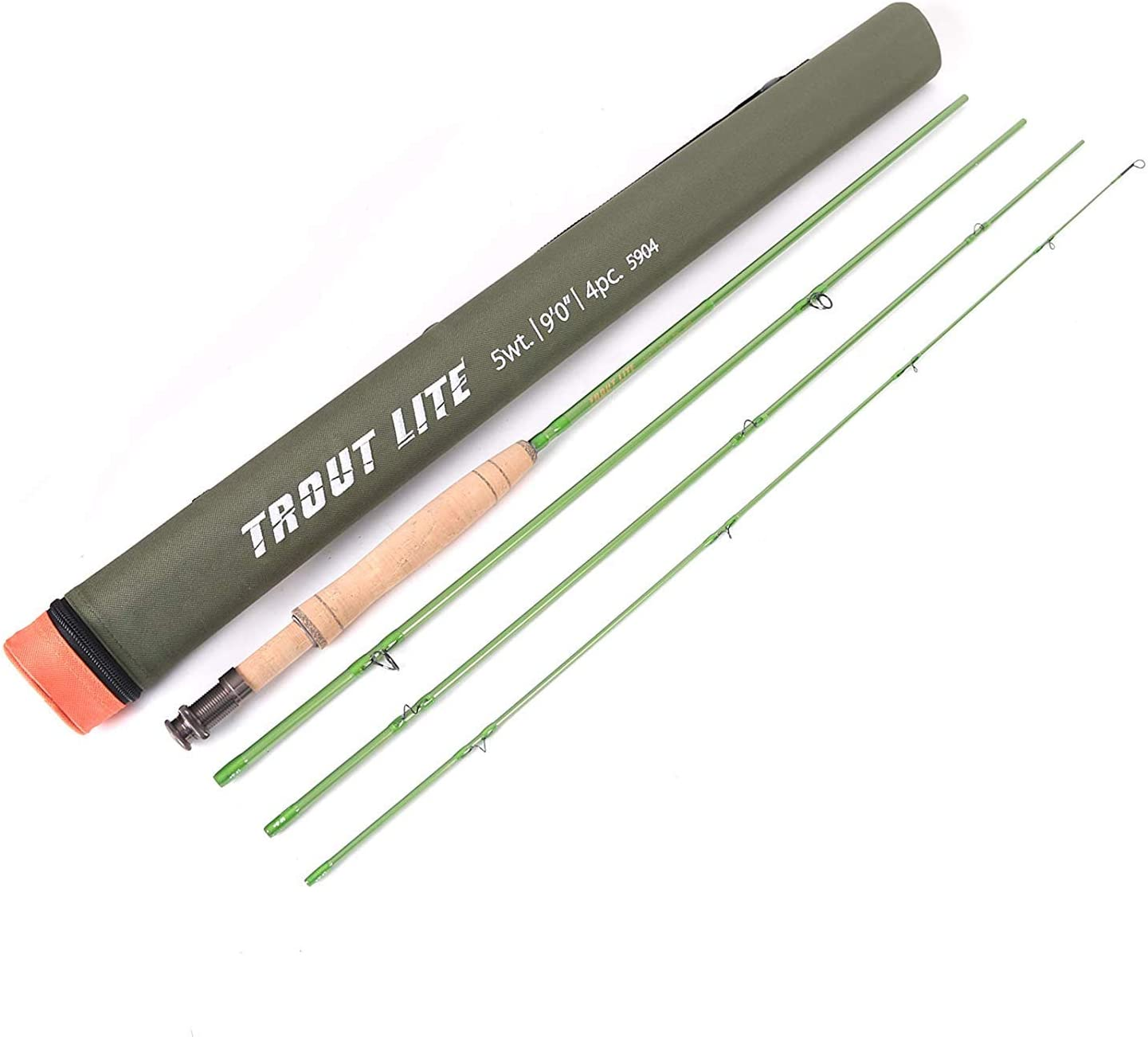 M MAXIMUMCATCH Maxcatch Trout Lite Fishing Rod IM12 Graphite 4-Piece-Designed for The Trout Angler-Moderate Action,Light Presentation with Cordura Tube(Size: 3/4/5wt) (7'6'' 3wt-4pcs)