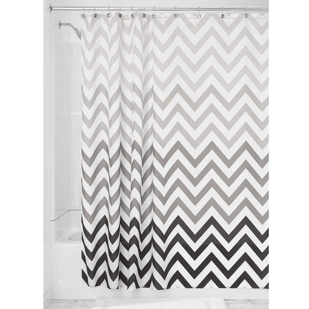 Amazon InterDesign Ombre Chevron Shower Curtain Gray Multicolor 72 Inch X Home Kitchen