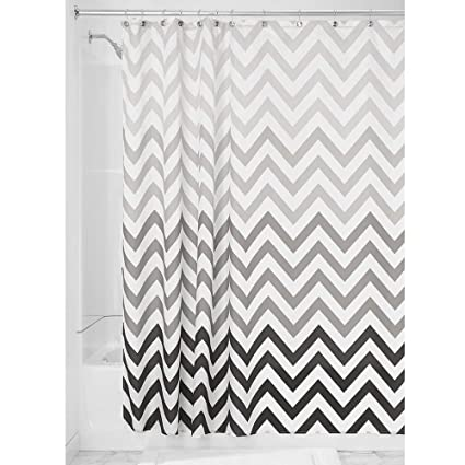 Amazon InterDesign Ombre Chevron Shower Curtain Gray