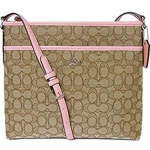 NEW Coach F58285 Signature File Bag Crossbody Handbag Khaki Strawberry