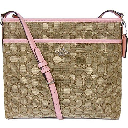 NEW Coach F58285 Signature File Bag Crossbody Handbag Kha...