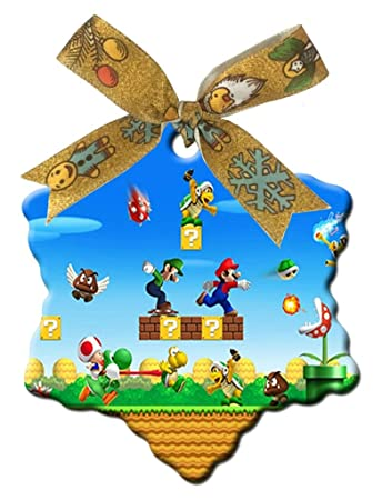 Super Mario World Christmas.Amazon Com Super Mario World Custom Vogue Snowflake Shaped