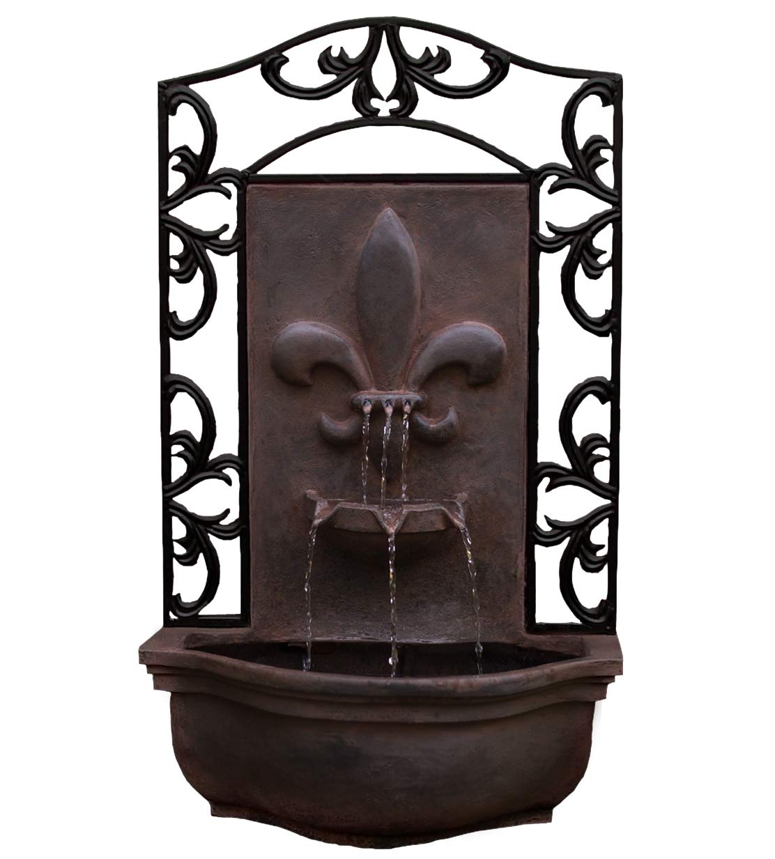 The Bordeaux - Outdoor Wall Fountain - Weathered Bronze - Water Feature for Garden, Patio and Landscape Enhancement by Harmony Fountains