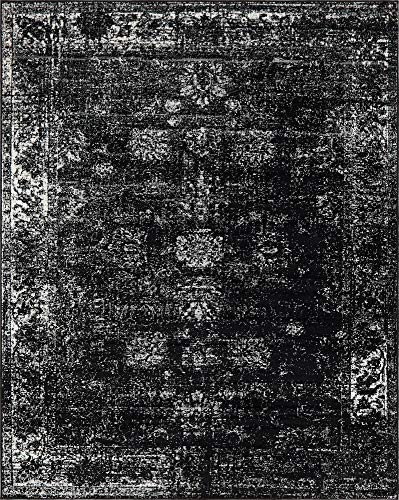 (Unique Loom 3137800 Sofia Collection Traditional Vintage Beige Area Rug, 9' x 12' Rectangle, Black)