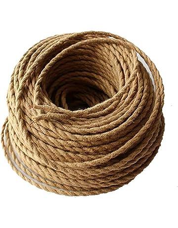 Cable eléctrico REACHYEA estilo antiguo, cuerda retorcida, trenzada, colgante, para luz o