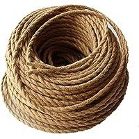 Cable eléctrico REACHYEA estilo antiguo, cuerda retorcida, trenzada