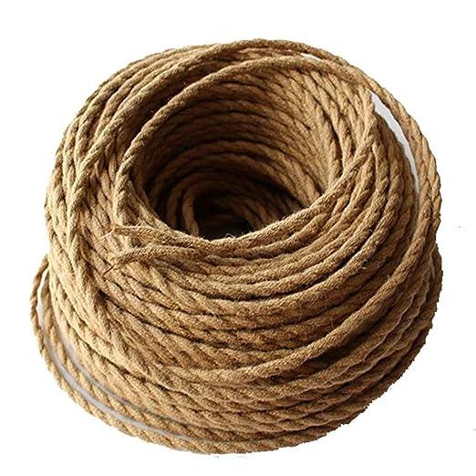 reachyea 2 * 0.75 mm2 Edison Vintage Retro de alambre cuerda ...