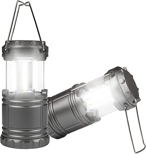 TeqHome LED Camping Lantern, Portable LED Camping Lantern Flashlights Bright LED Tent Light Lightweight, Collapsible for Emergency, Hurricane, Power Outage-Powered by 3 x AA Batteries