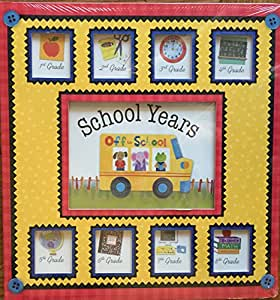 Off to School Yellow Bus Deluxe School Years Memory Keeper Scrapbook Pre+K-8TH Grade