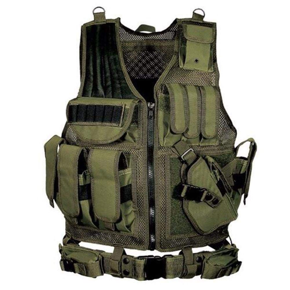 483d3a2cf7ff2 HoneybeeLY Simulated Tactical Military Vest, Adjustable Elite Series Tactical  Vest, Army Paintball Airsoft Combat Assault Vest For Army Combat Game  Jungle ...