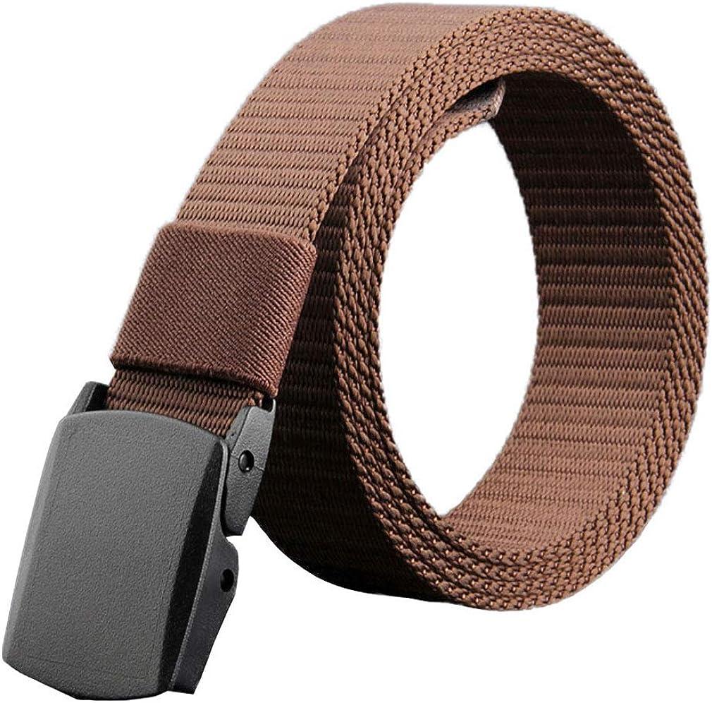 Soojun Mens Adjustable Military Style Web Buckle Belt