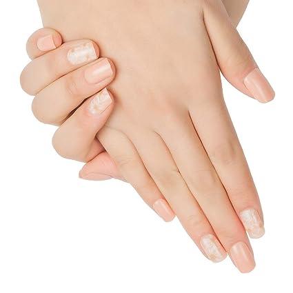 Doreliss uñas postizas 30 Pcs Consejos corto uñas falsas de Pegamento adhesivo de doble cara Rosa Clarocolor