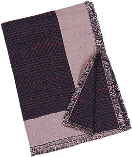 DYLANDY 1PCS Women's Soft Scarf Shawl Neck Wrap Woven Cashmere Scarf Winter Short Tassel Plaid Shawl Scarf Bib