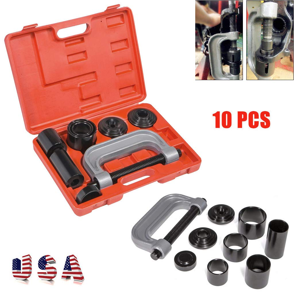 ASOBIMONO Ball Joint /& U Joint Service Tool Set Carbon Steel 4 in 1 Heavy Duty Press fit Removal Installation Kit for Most 2WD and 4WD Cars and Light Trucks US Stock