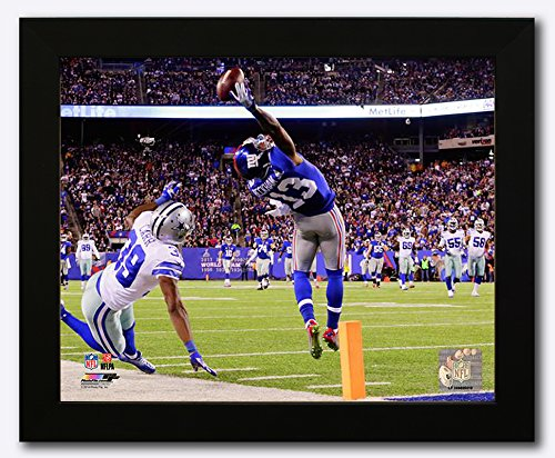 New York Giants Odell Beckham Jr. Makes The Catch of a Lifetime! 8x10 Photo Framed. (Horizontal) ()