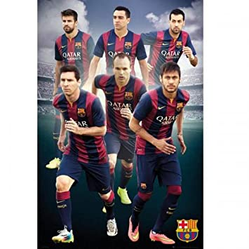 gift ideas official fc barcelona players poster a great present