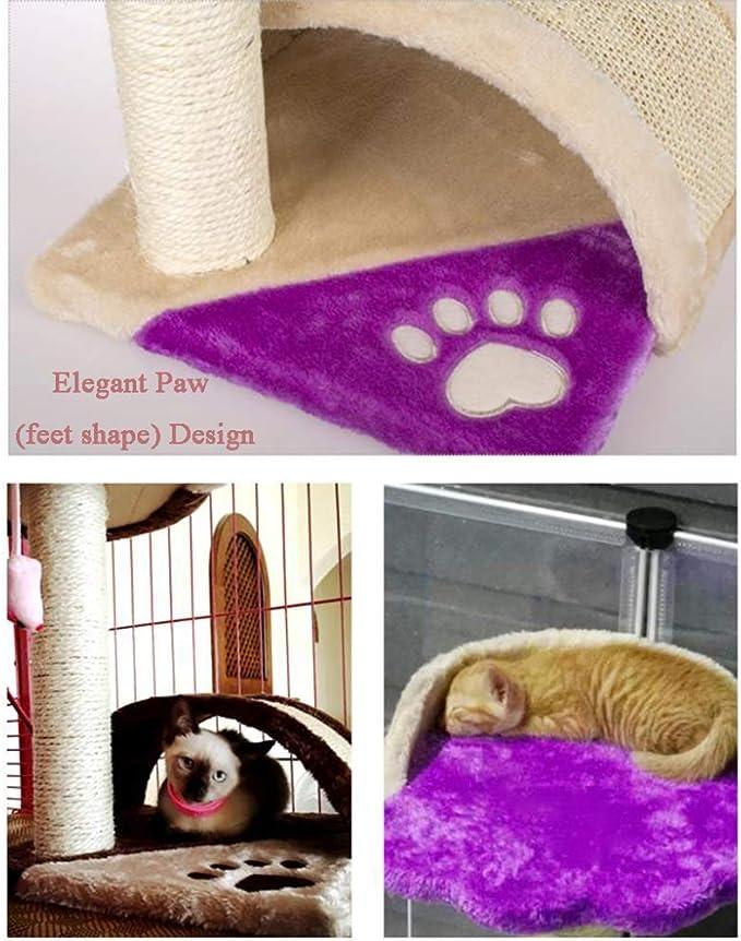 CAT-JXW Árbol para Gatos Grandes Arañazo Juguete Trepar Songmics Rascador Mascotas Escalador La Casa De Gato Star Sisal Juguetes Songmics para Mascotas,Black: Amazon.es: Hogar
