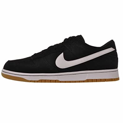 Amazon.com | Nike Men's Dunk Low Canvas, Black/White-White | Fashion  Sneakers