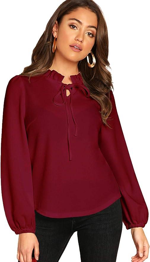 Ruffle Collar Shirt Top