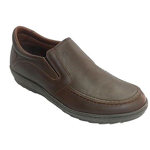 Zapato Hombre Suela Gorda con Gomas a los Lados Pitillos en marrón Talla 45: Amazon.es: Zapatos y complementos