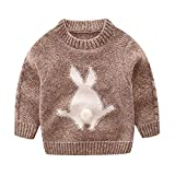 Mud Kingdom Little Boys Cute Rabbit Sweaters Pullover 3T Khaki