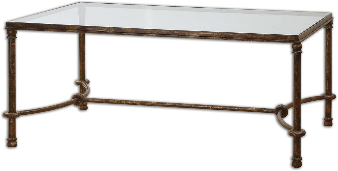 Uttermost Warring Iron Coffee Table, Bronze