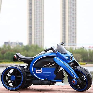 MEILA Niño Moto eléctrica Puede sentarse Paseo Triciclo Gran carga ...