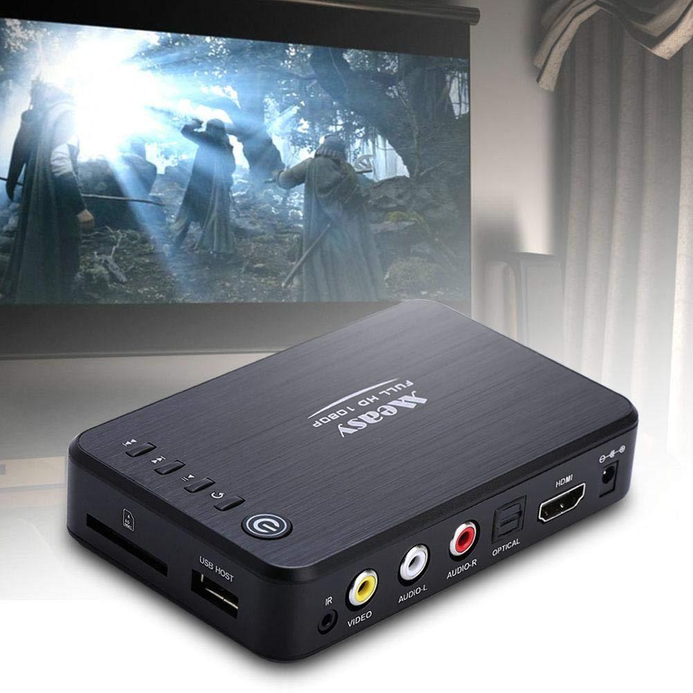 Zerone 1080p HD Multimedia HDD Player USB und SD-Kartenerweiterung Blue-Ray Disc /& 3D Media Player