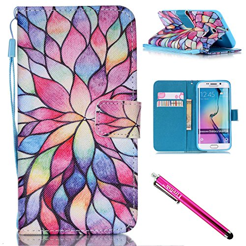 Galaxy S6 edge Case, Firefish Kickstand Flip [Card Slots] Wallet Cover Double Layer Bumper Shell with Magnetic Closure Strap Case for Samsung Galaxy S6 (Sexy Updo)