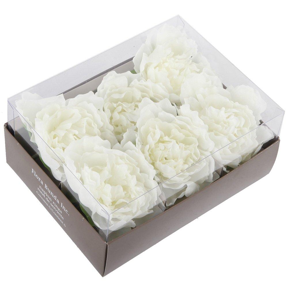 Flora Bunda A/6 Peony Napkin Rings in gift box-WD1708(12 boxes/72 Peony Napkin Rings)