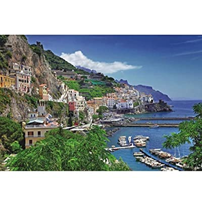Amalfi Coast Puzzle for Adults 1000 Piece Jigsaw Puzzles for Adults Large Jigsaw Puzzles Floor Puzzle Kids DIY Toys for Home Decor 3D Puzzles Brain Teaser Puzzles Board Game Family: Toys & Games